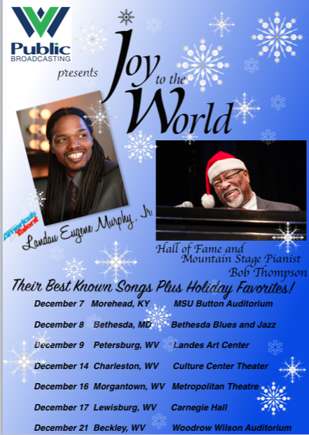 Christmas Concerts- December 9, 2021 Bethesda Md Joy To The World Tour Kicks Off This Week Landau Eugene Murphy Jr